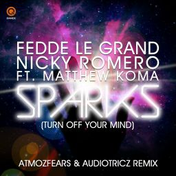 Fedde Le Grand and Nicky Romero featuring Matthew - Sparks (Turn Off Your Mind) (Atmozfears & Audiotricz Remix) - Q-Dance Records - 05:05 - 01.07.2013
